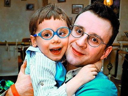 Максим со своим сынишкой Елисеем