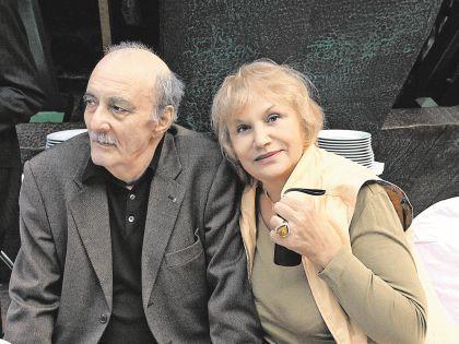 Георгий Данелия с супругой Галиной Юрковой-Данелия