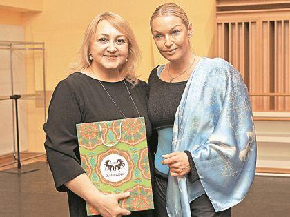 Анастасия Волочкова с дизайнером Екатериной Забегиной