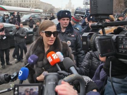 Ксения Собчак на церемонии прощания с Борисом Немцовым
