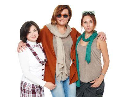 Ирина со стилистами, создавшими ее новый имидж
