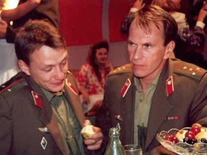 Марат Башаров и Алексей Гуськов в фильме «Граница. Таежный роман»