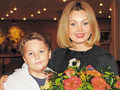 Климова с сыном Никитой