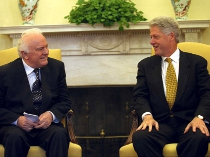 Эдуард Шеварднадзе и Билл Клинтон