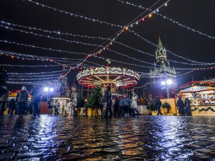 В Москве много мест, где можно получить новогоднее настроение