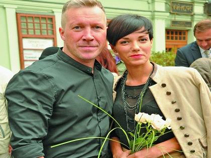 Дочь Антибиотика Надежда с мужем Алексеем Кравченко