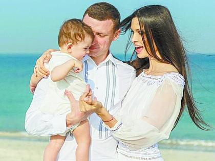 Павел Мамаев с семьей