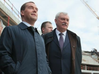 Георгий Полтавченко и Дмитрий Медведев
