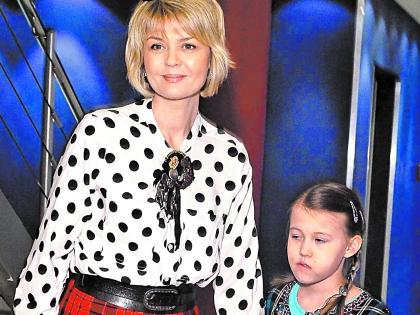 Юлия Меньшова с дочерьей Таей