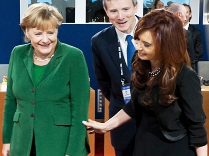 Канцлер Германии Ангела Меркель и президент Аргентины Кристина Фернандес де Киршнер