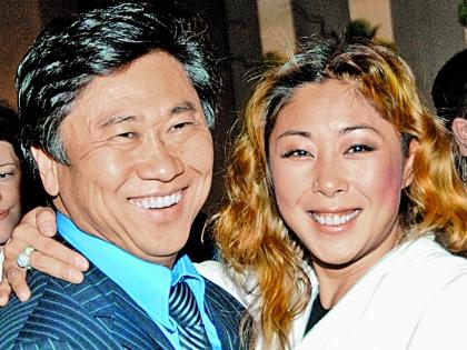 Анита Цой с супругом