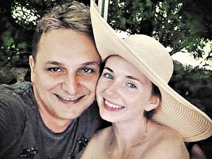 Лена Катина с супругом