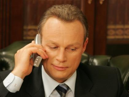 Сергей Жигунов на съемках сериала «Моя прекрасная няня»