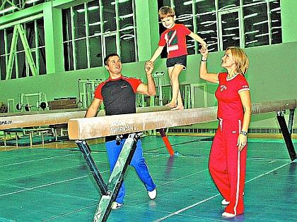 Алексей Немов с женой и сыном