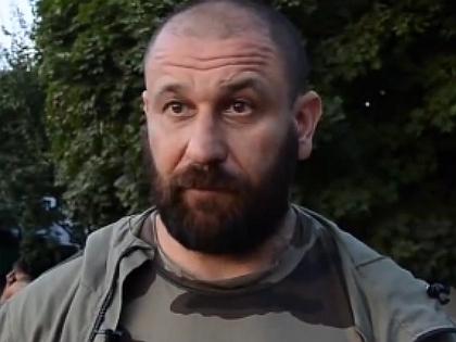 "Командир батальона ""Шахтерск"" Руслан Онищенко"