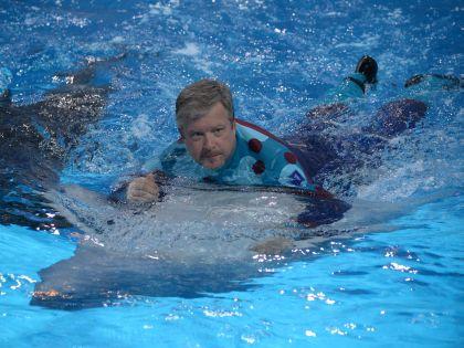 Ведущий программы «Вместе с дельфинами» Валдис Пельш
