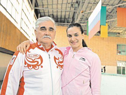 Евгений Трофимов и Елена Исинбаева