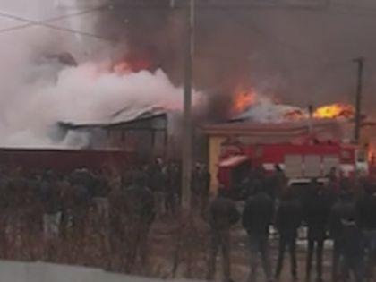 Пожар в тульском поселке
