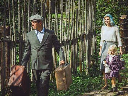 С Андреем Мерзликиным в сериале «Тальянка»