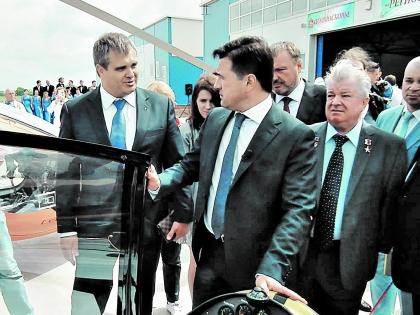 Роман Путин на встрече с губернатором Подмосковья Воробьевым