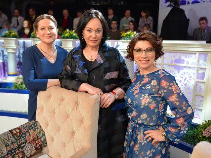 Тамара Глоба, Лариса Гузеева и Роза Сябитова на съемках программы «Давай поженимся»