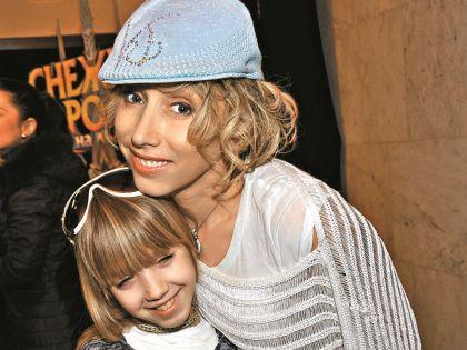 Артистка с дочерью Соней