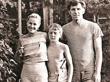 Татьяна Конюхова с мужем и сыном