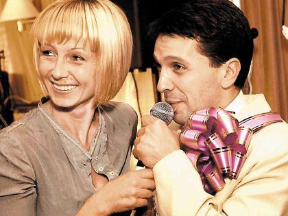 Леонид Барац с бывшей женой