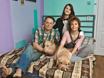Игорь Николаев со своей семьей