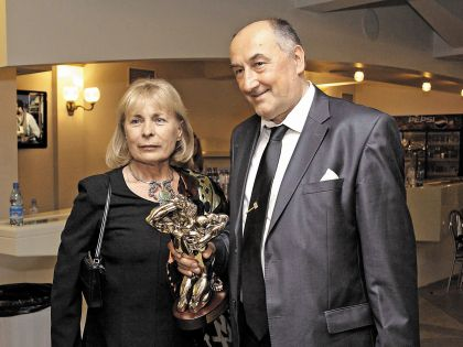 Борис Клюев с женой на премии «ТЭФИ»