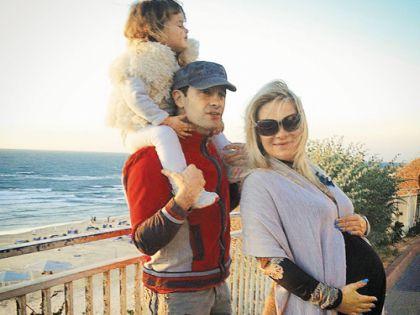 Семья Макарских во время отдыха в Израиле