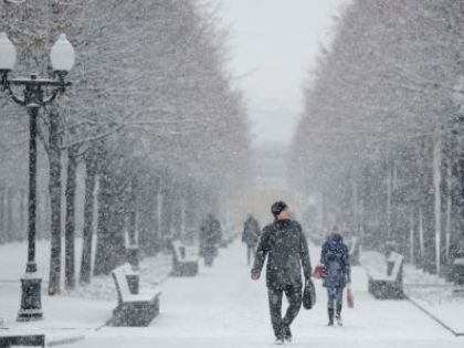 """В московском регионе в начале следующей недели ожидаются """"снежные заряды"""""""