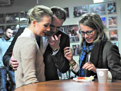 Ксения Собчак, Алексей навальный и его жена