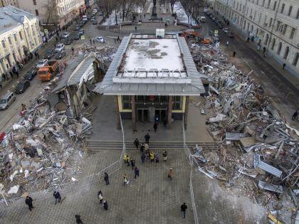 Снос самостроев у станции метро «Чистые пруды» в Москве