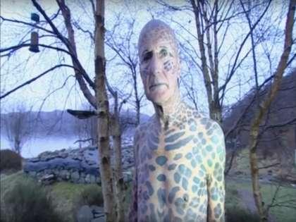 Самый татуированный в мире пенсионер Том Леппард