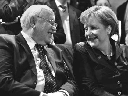 Михаил Горбачев и Ангела Меркель