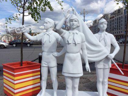 """Скульптура на фестивале """"Московская весна"""""""