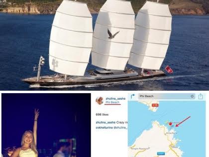 Недельная аренда яхты, на которой, вероятно, отдыхают Песков и Навка обходится молодоженам в 385 тыс. евро в неделю