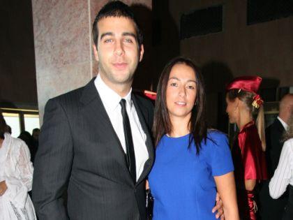 Иван Ургант с женой Натальей Кикнадзе