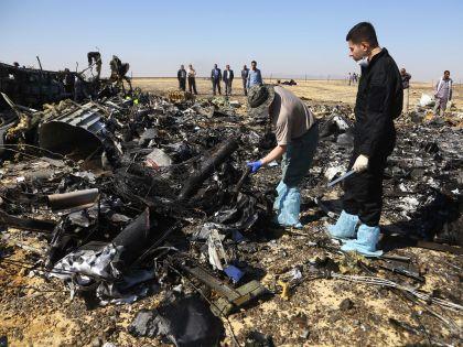 На месте падения российского самолёта