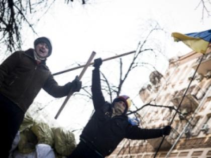 Самые необычные междоусобицы на украинских акциях протеста. Фото Global Look Press