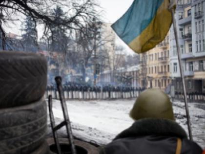 """Несмотря на """"осадное"""" положение, активисты """"евромайданов"""" порой враждуют и между собой. Фото Global Look Press"""