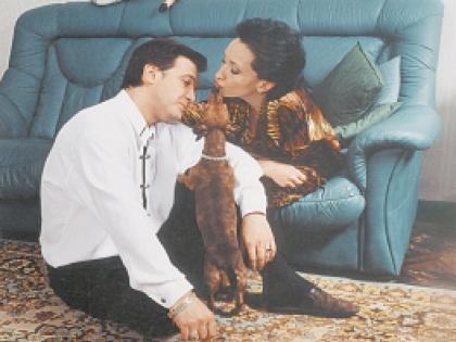 Ирина Аллегрова с мужем