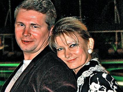 Ольга Хохлова с мужем Вячеславом