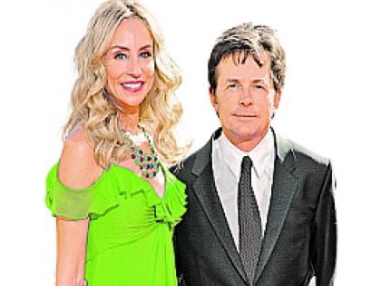 Майкл Джей Фокс с женой